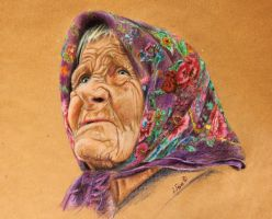 colorful beggar by zileart