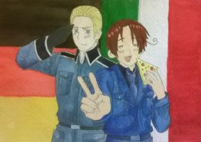 Doitsu and Hetalia by manny1212