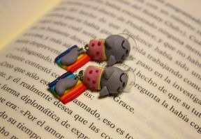 Nyan Cat Earrings by Nabila1790