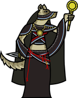 Inanna, Gnoll Cleric by WhoDrewThis