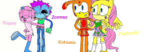 Zompet and Katsershy sonic style by poppetrocks278