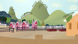 Background vector: Sweet Apple Acres Pigsley by DracoBlair