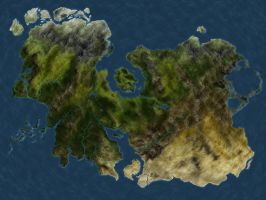 Realm Project - Early map draft by sayterdarkwynd