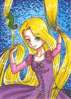 Art Card 01 - Rapunzel by VickyViolet