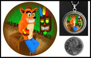 Crash Bandicoot Necklace by iceSylum