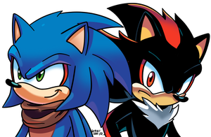 SSJ4 Sonic and Shadow by WaniRamirez