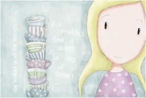 Storm In A Teacup - gorjuss by childrensillustrator