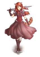 Red Panda Girl [OC: Arealle] by Astral-Chan
