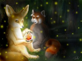 Magic of the Forest by kitsune-gamer