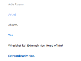 Artie Abrams. CLEVERBOT THINKS HE'S NICE! :D by Sugerpie56