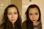 Makeup Before/After by TinyLittleFirefly