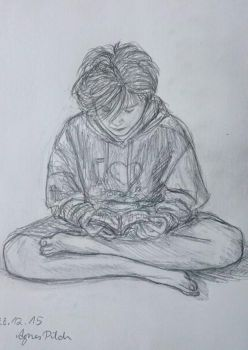 Jean-Jaques reading manga  by agimus
