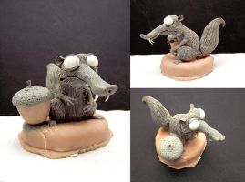 Scrat Sculpture - Before painting by buzhandmade