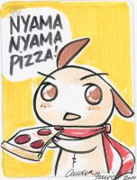Nyama Nyama Pizza by nemu-nemu