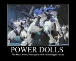 Power DoLLs Motivational poster by postalthehedgehog