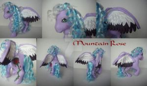 My little Pony Custom G1 Mountain Rose by BerryMouse