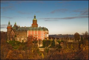 Ksiaz at sunrise IV by DanielloPL