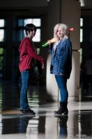A Zombie And A Human by JavaCosplay