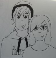 Brittany and Haz by Katie-Laine