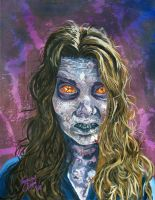 Big Eyed Zombie - The Walking Dead by Shawn-Conn