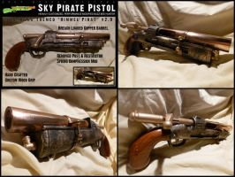 Buzz Bee Hunter Steampunk Pistol - Sky Pirate v2.0 by MarcWF