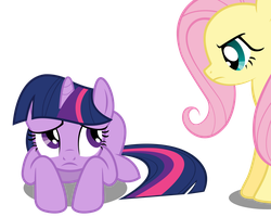 Twilight Shies Away -- from Fluttershy by CaliAzian