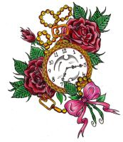Clock and roses by Shadow3217