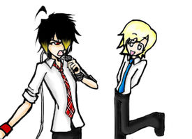 Sing you-- What the? O__o by Mast3rRiku