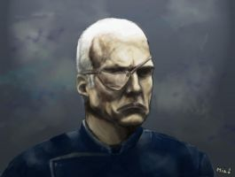 Colonel Saul Tigh by MekareMadness