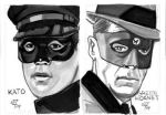 Green Hornet and Kato by Roguehill