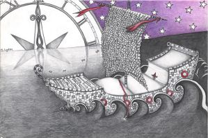 The ship is made of books... The Night Circus by CaylaLydon