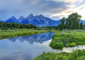 Schwabacher Landing at Sunset - Grand Teton by gwhitton