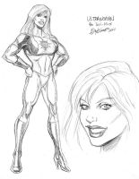 Ultrawoman sketch by Teri-Minx