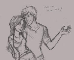 Katniss and Peet-Why Not by Ratgirlstudios