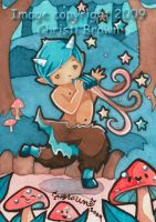 Cute kawaii baby faun satyr by candcfantasyart