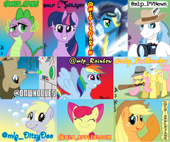 TwitterPonies Badges by the-gneech