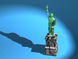 Statue Of Liberty Paperweight by CheVD