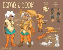 Esme and Dook Final Character Sheet by alliemackie