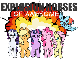 Explosion Horses of Awesome by RydelFox