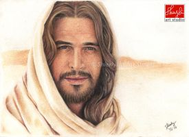 Portrait Drawing of Diogo Morgado as Jesus by shierly85