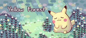 yellow forest banner by Paleona