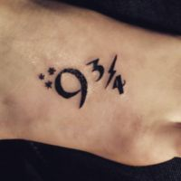 9 3/4 harrypotter tattoo by McginnisFineArts