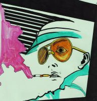 Hunter S Thompson by Nicoleta-Chankleta