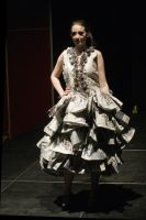 Newspaper Dress by x-BellaMuerte-x