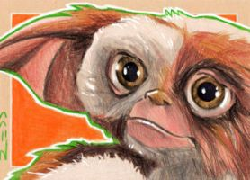 Gizmo - Gremlins -Sketch Card by J-Redd