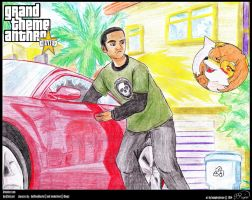 GTA V Fan Art (R) - Boostin' a Peek by humphreylevine2014
