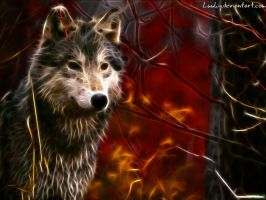 Fractal wolf by Luuky