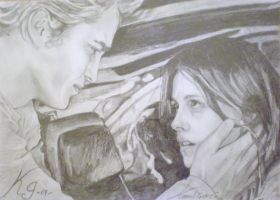 Edward and Bella in Twilight by CrasyK