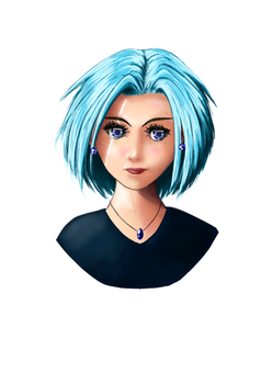 Manga_Girl_Medibang_Blue by Silmegil