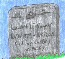 L's grave by PsychoticSoulReaper